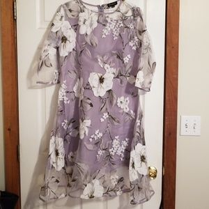 Dresses & Skirts - Sweet organza dress, floral, half sleeve